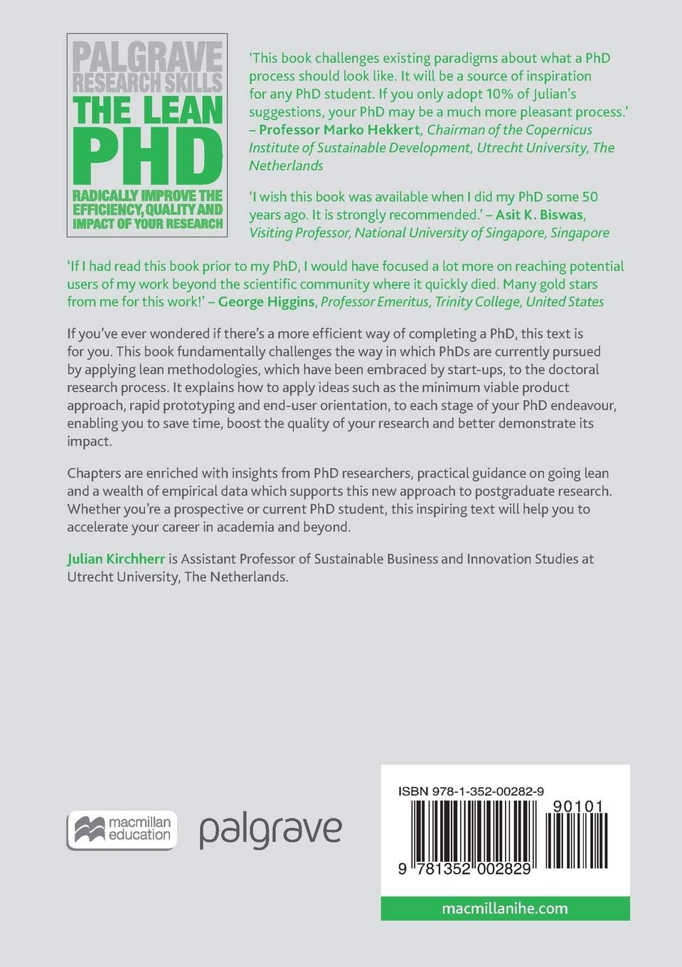 The Lean PhD: Radically Improve the Efficiency, Quality and Impact