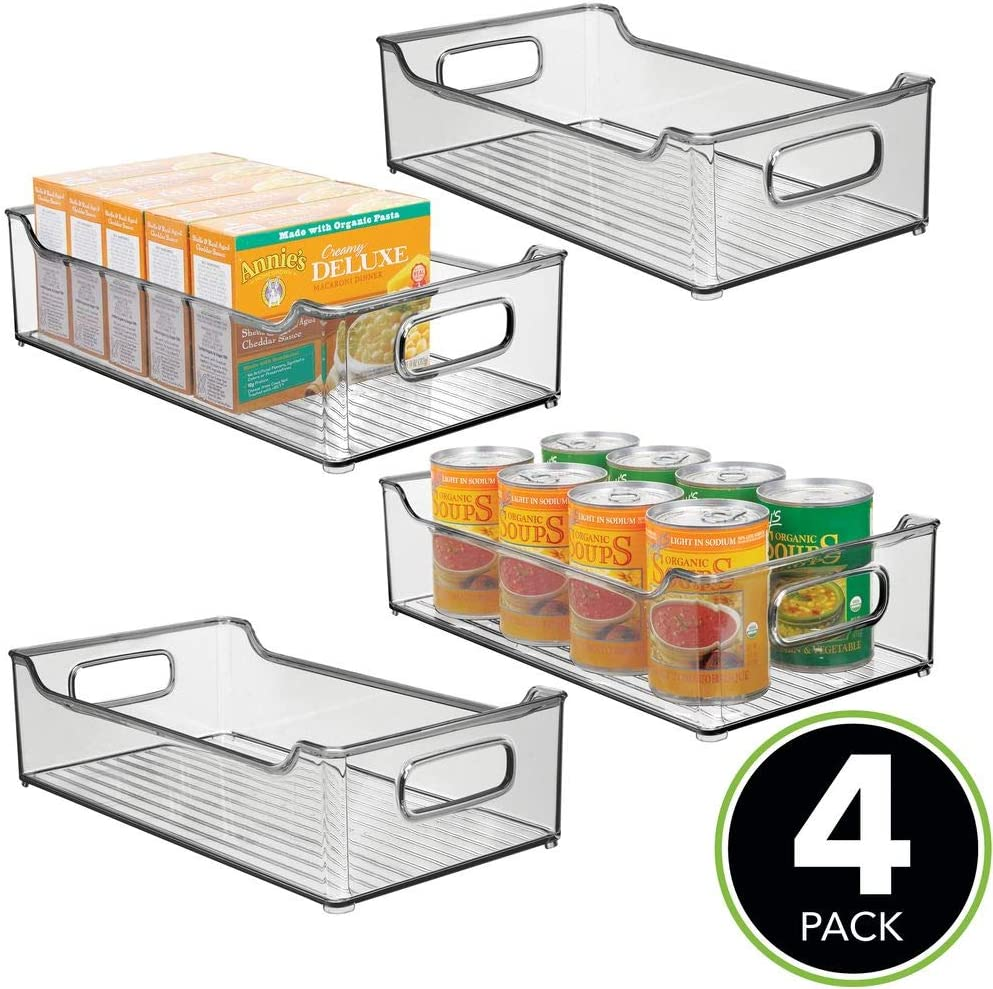 mDesign Juego de 4 fiambreras para la cocina – Cajas de plástico ...
