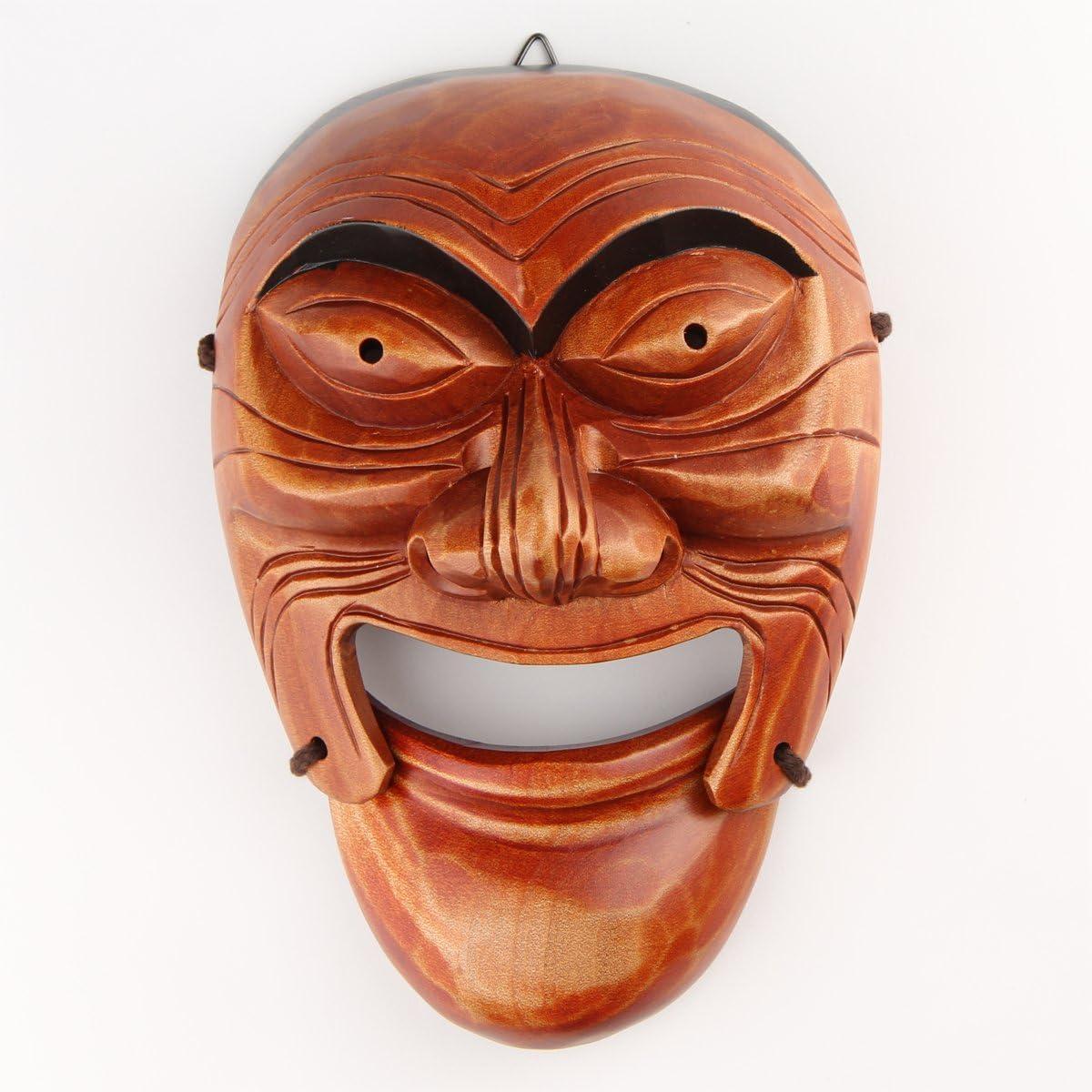 Real Human Face Size Korea Traditional Hahoe Mask Seonbi(Scholar)