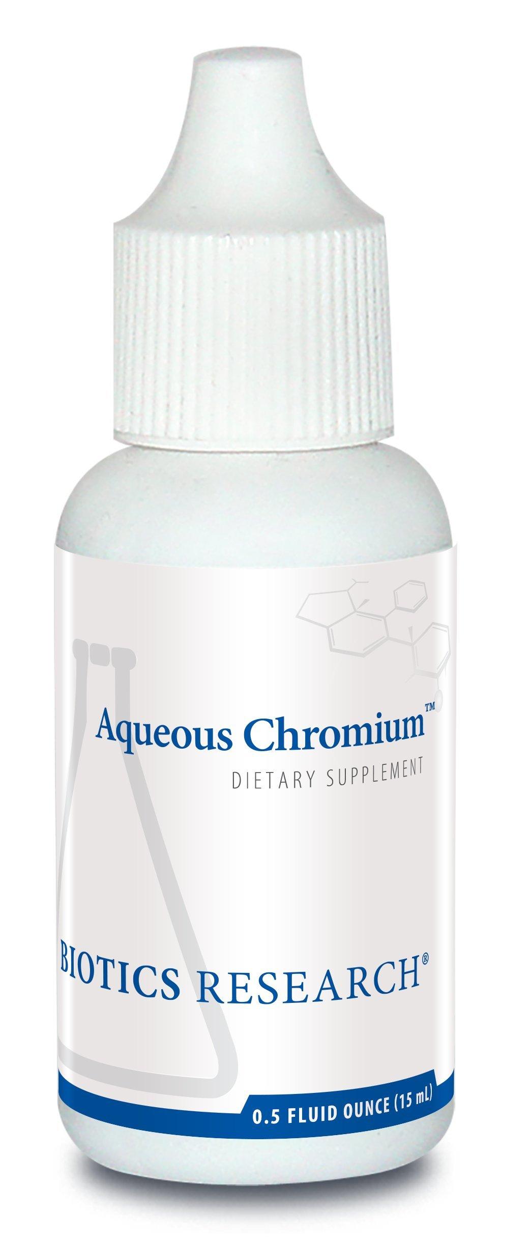 Biotics Research Aqueous Chromium– Easy-to-Take Liquid Formula, 150 Mcg Chromium, Healthy Blood Sugar Maintenance, Glucose Metabolism, Supports Health Lipid and Triglyceride Levels 0.5 Fl oz