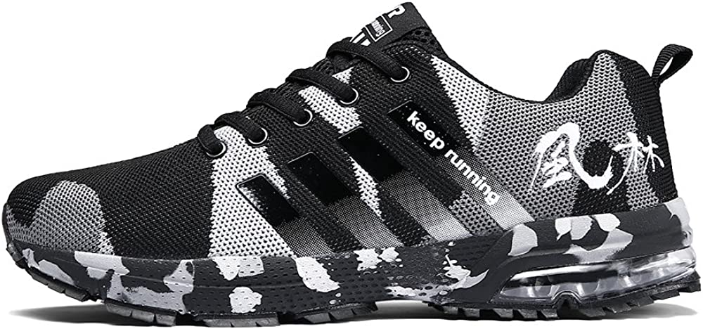 Ahico Running Shoes Men – Air Cushion Mens Women Tennis Shoe Lightweight Fashion Walking Sneakers Breathable Athletic Training Sport for Womens