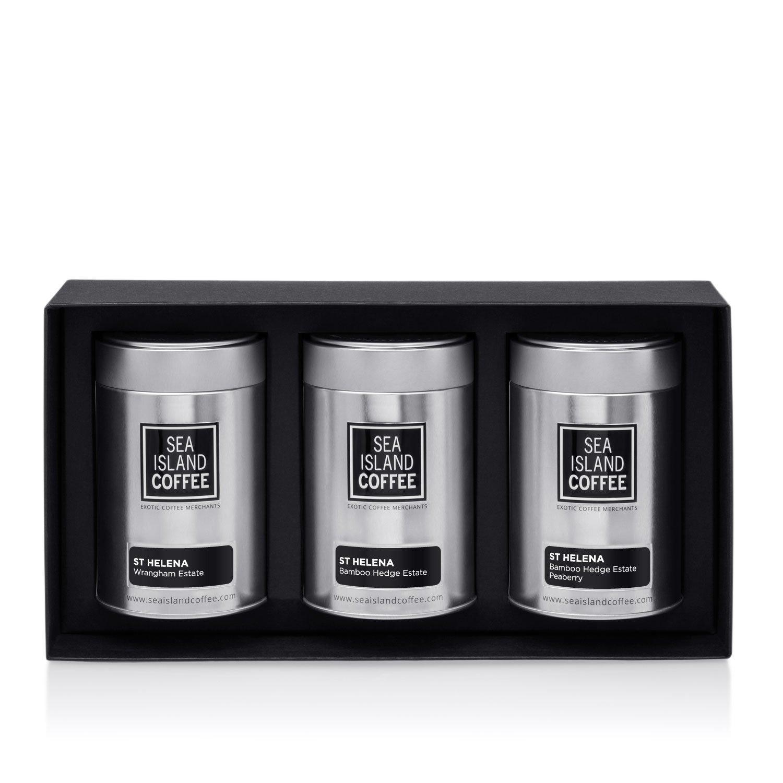 St. Helena Gift Set - Cafetiere Grind (3 x 4.4 Oz Tins)