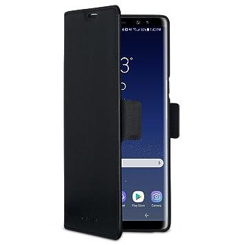 CASEZA Samsung Galaxy Note 8 Funda Negro Tipo Libro Piel PU Case Cover Carcasa Plegable Cartera Oslo 2