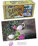Porte Savon rotatif - Laiton - Plus Savon ROSE 260 g