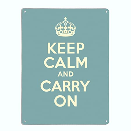 Blue h /Blue The Metal Art Company Keep Calm w Large Magnetic Notice Board/Wall Art 55cm x 75cm