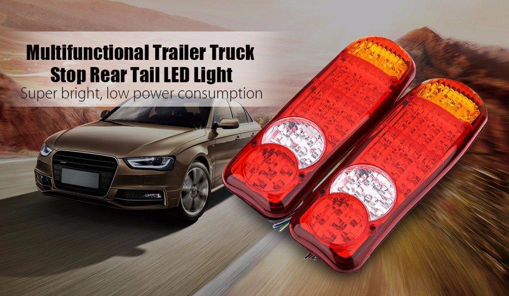 Haichen 1 Pair 12V 13.5 46Led Trailer Truck Van Caravan Stop Rear Tail Indicator Fog Light