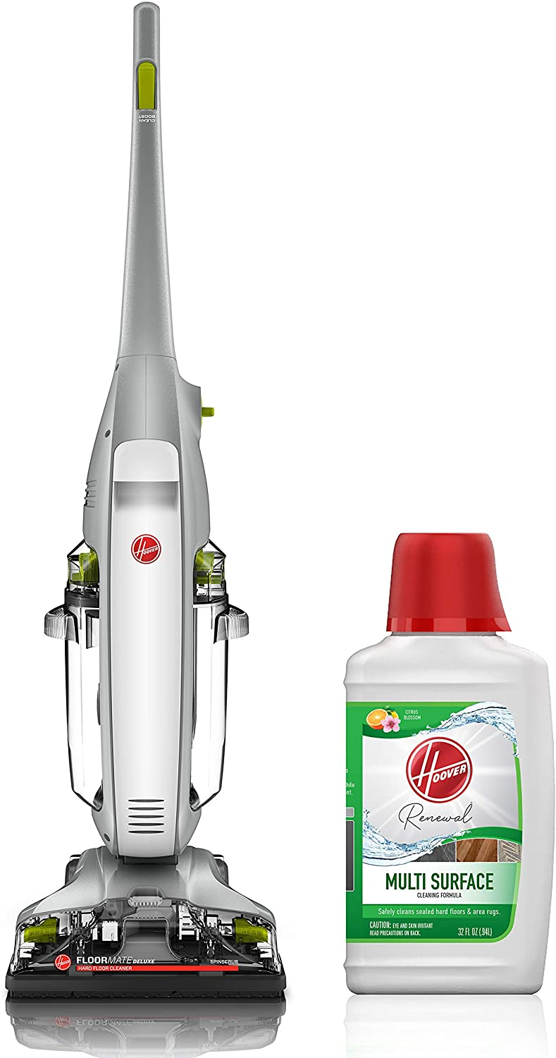 Hoover FloorMate Deluxe Hard Floor Cleaner with Renewal 32oz Solution
