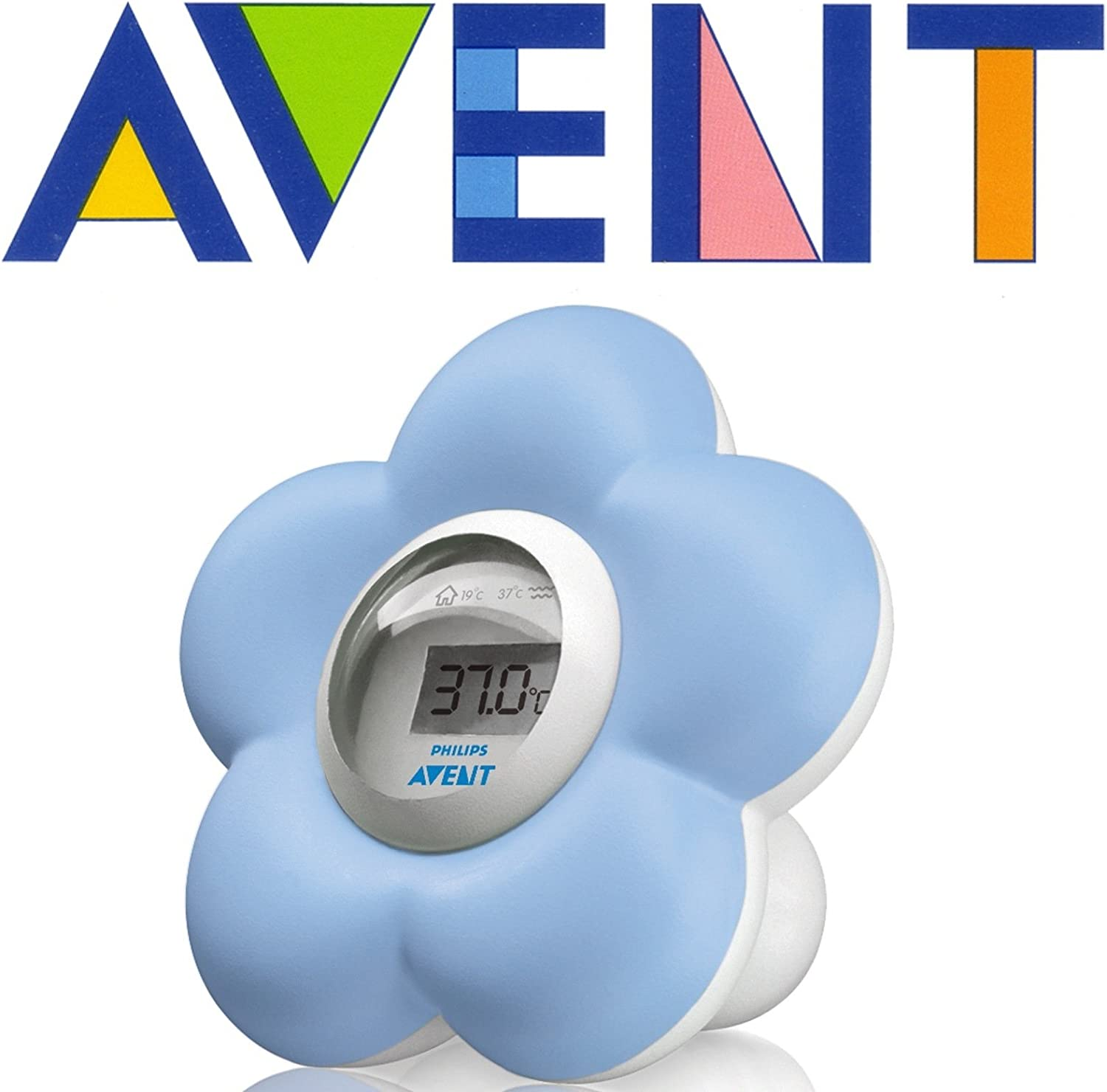 Blue  ***FAST /& FREE*** Philips AVENT SCH550//20 Bath and Room Thermometer