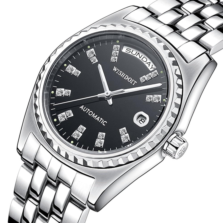 Automatische mechanische Uhr-LÄssig Herrenuhr- Business-wasserdichte Armbanduhr-E