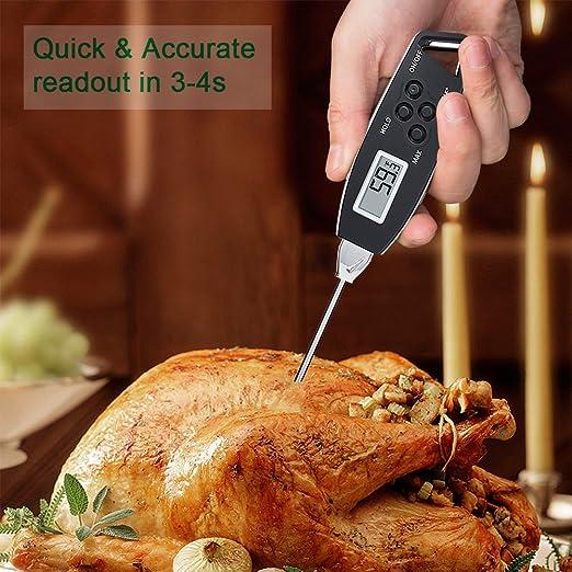 victuna carne termómetro Digital lectura instantánea termómetro de cocina con imán y resistente al agua, utilizando para cocina cocinar asar barbacoa ...