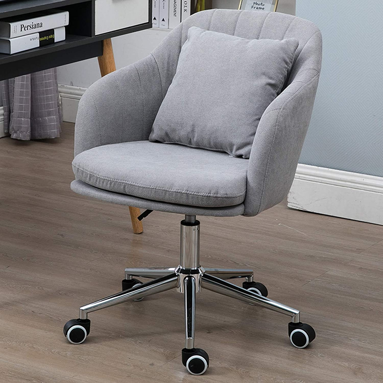 360° svängbar höjd justerbar kontorsstol ergonomisk skrivbordsstol datorstol ländryggsstöd mitten av ryggen uppgift hem accentstol Grått