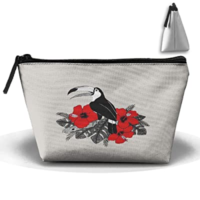Unisex Stylish And Practical Great Toucan Flower Grass Branch Trapezoidal Storage Bags Handbags lovely
