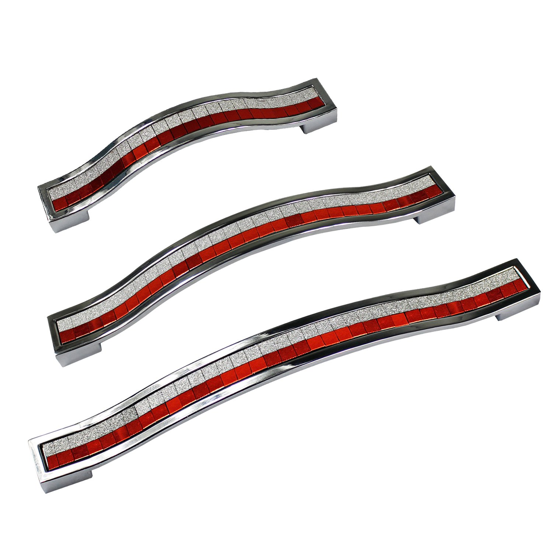 Silver /& Gold maniglie per cassetti e sportelli in stile europeo mobili da cucina credenza 96MM-5PCS in lega di zinco e strass di cristallo per armadio Psmgoods/®