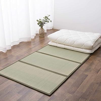 EMOOR Japanese Tatami Mat (Igusa Mattress), Twin 39x79in, Foldable, Natural Rush Grass (Undyed), Floor Futon Meditation Yoga Zen