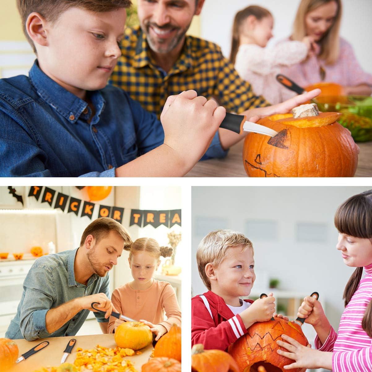 Halloween Pumpkin Carving Set Pumpkin Cutting Supplies Stainless Steel Jack-O-Lantern Carving Tools 9PCS