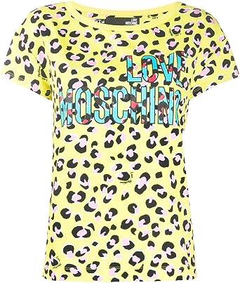 Love Moschino - Camiseta de mujer W4F301TM4179 0016 algodón amarillo PE20 amarillo 38: Amazon.es: Ropa y accesorios