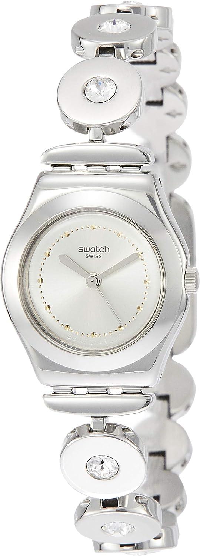 Swatch Reloj Analogico para Mujer de Cuarzo con Correa en Acero Inoxidable YSS317G