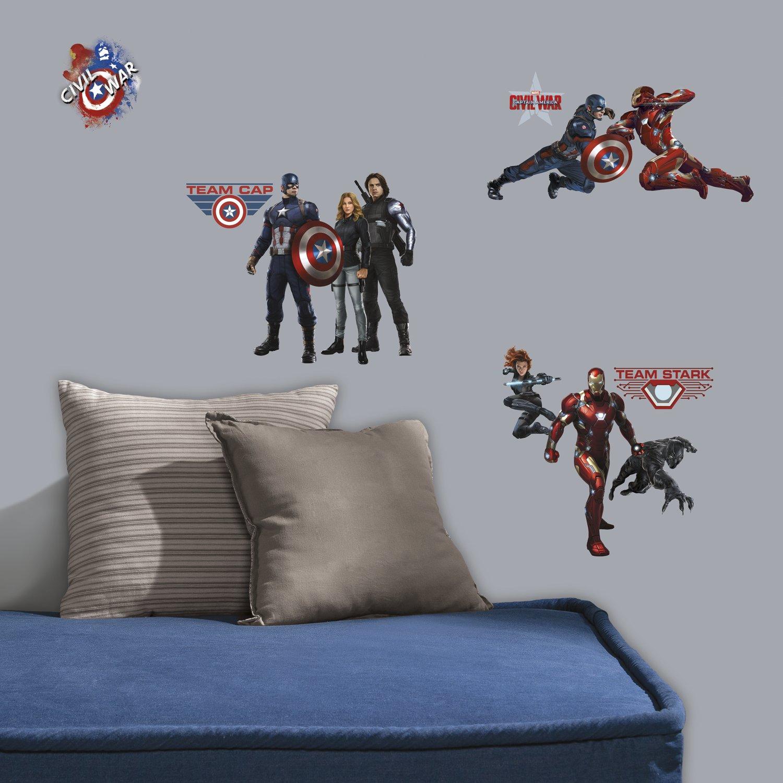 RMK3243SCS Captain America Civil War Peel and Stick Wall Decals,