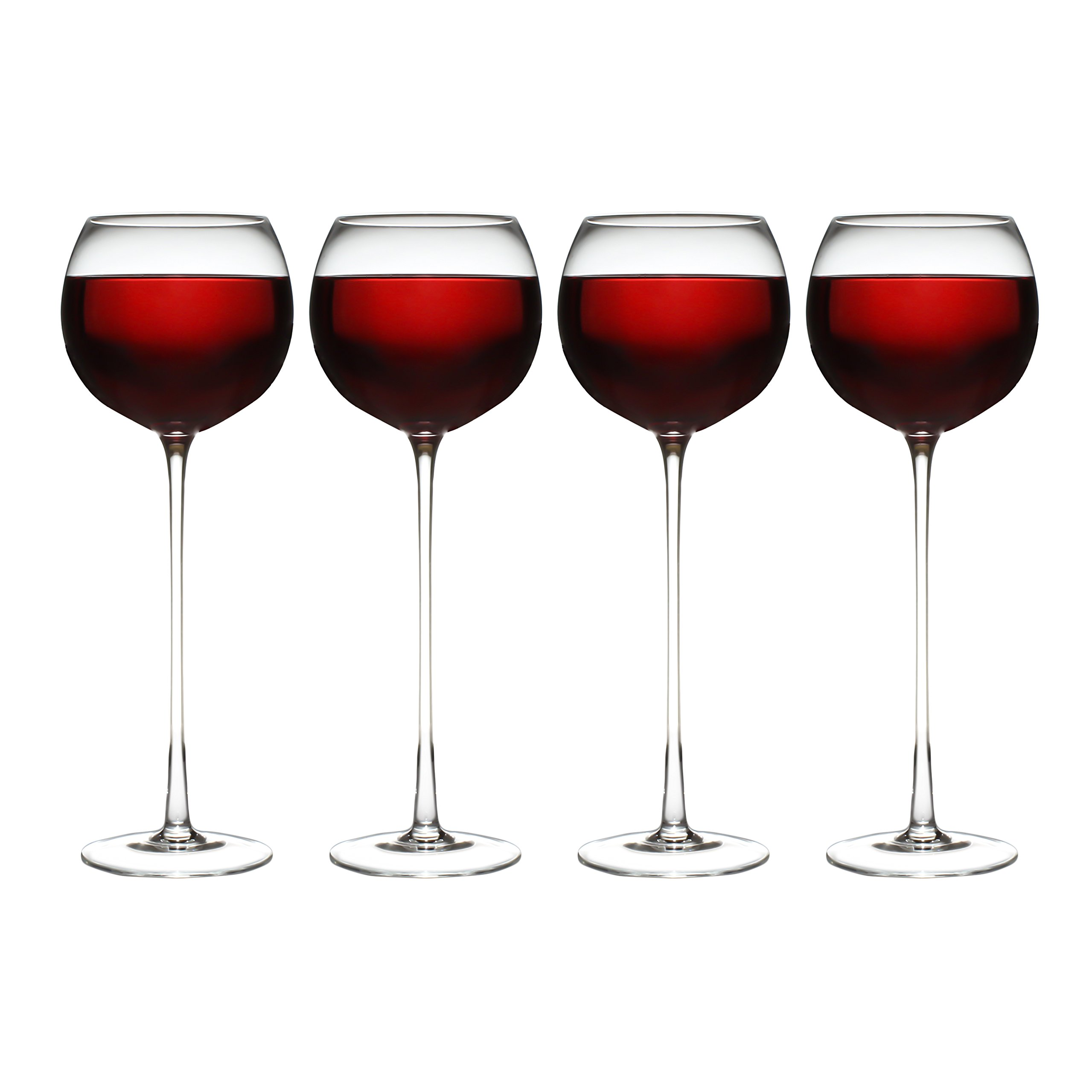 Set of 4 Long Stemmed Wine Glass's