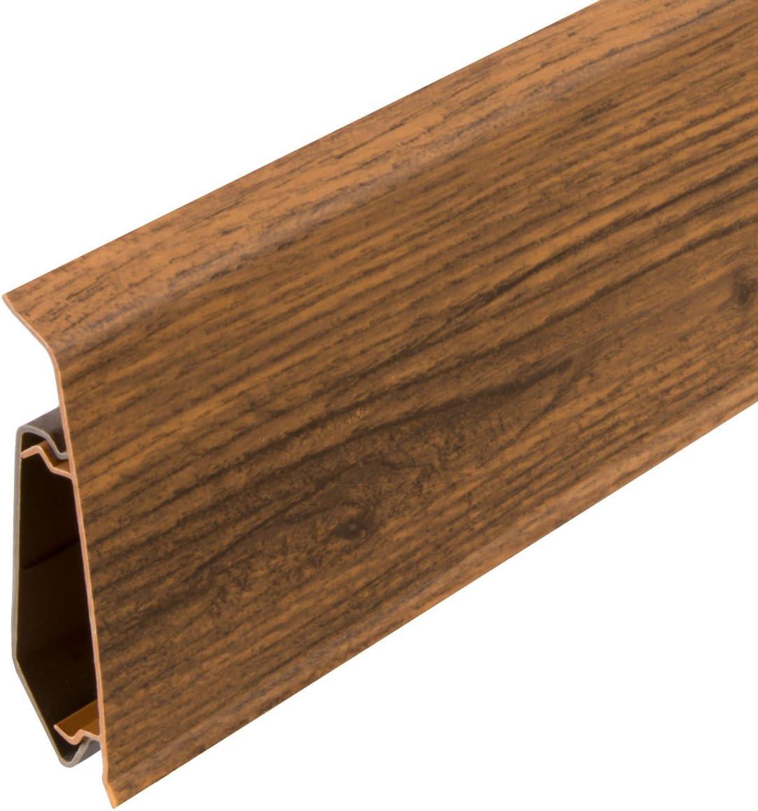 HOLZBRINK Verbinder passend zum Dekor Ihrer Sockelleiste Fussleiste VEO 008 BLUES WALNUSS