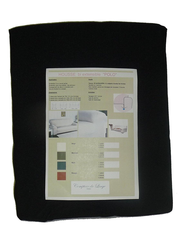 Comptoir du linge Polo1pllin - Copripoltrona elasticizzato, in tessuto biestensibile, colore: Lino naturale