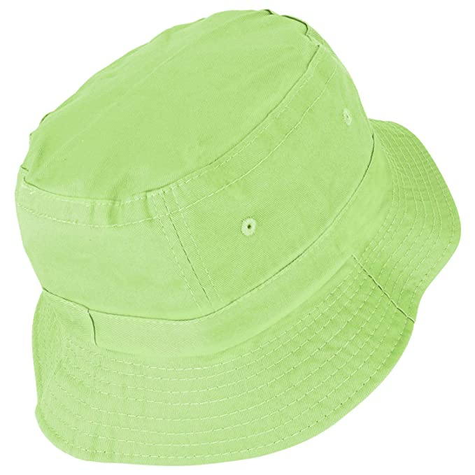 fe98d24c Amazon.com: Armycrew Youth Pigment Dyed Washed 100% Cotton Bucket Hat - Apple  Green: Clothing