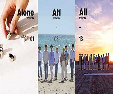 SEVENTEEN – Al1 4th Mini Album 1 2 3 Ver. SET CD Photobook 2 Group Folded Posters Extra Sticker and Photocard