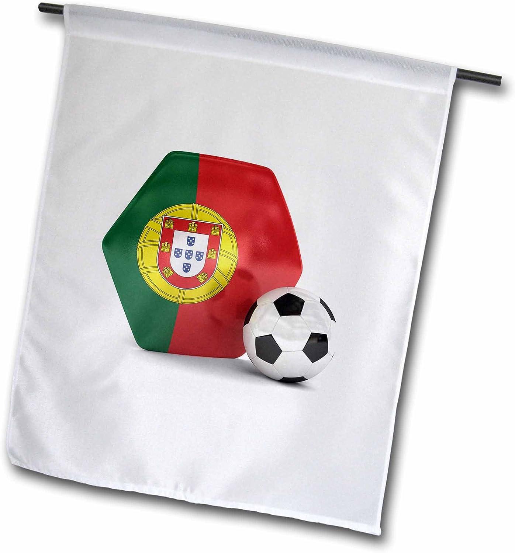 3dRose fl_181913_1 Portugal Soccer Ball Garden Flag, 12 by 18-Inch