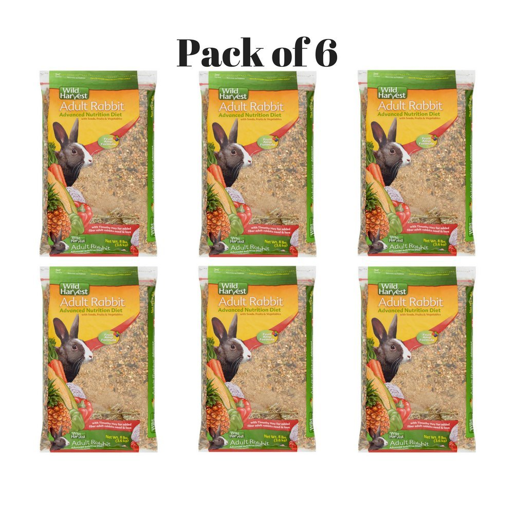 Wild Harvest Rabbit 8lb This Rabbit Food Provides Essential Dietary Variety, Great Taste And Balanced Nutrition. Pack of 6