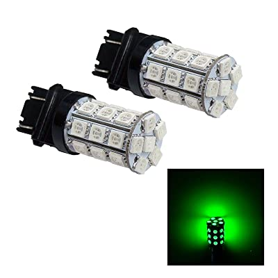 PA 2 x 30 SMD 5050 LED Tail Stop Light Bulbs 3156 3057 3157 12V-Green: Automotive