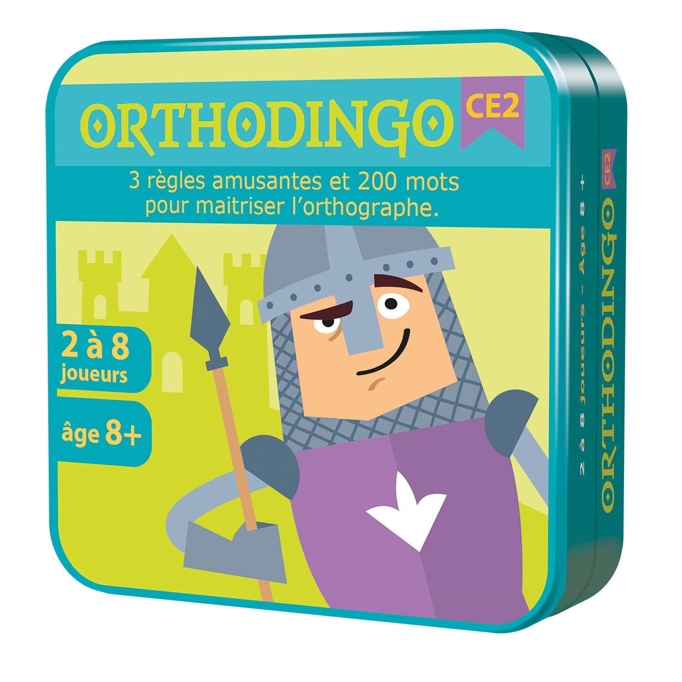 OrthoDingo CE2 - Jeux de cartes, Orthographe, 8 ans