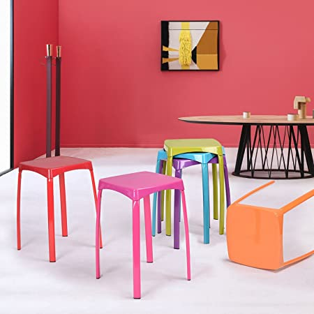 Utility Stool Colourful Home Living Room Metal Stool Robust Step ...
