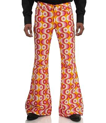 verschiedene Arten von heiße neue Produkte weltweit bekannt Comycom 70er Jahre Muster Schlaghose Star Waves Pink: Amazon ...