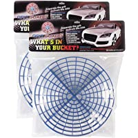 2PCS 10-1//4 Car Wash Washboard Insert Bucket Bracket Dirt Remove Filter Black