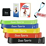 OOSO Resistance Bands Women/Men Set of 5/6, Exercise Resistance Loop Bands for Legs and Glutes, Home and Gym Workouts Resistance Elastic Bands for Pilates, Yoga, Fitness and Recovery