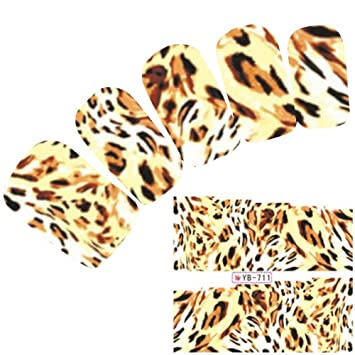 justfox tattoo nail art aufkleber lwe tiger muster lion nagel sticker - Muster Fur Nagel