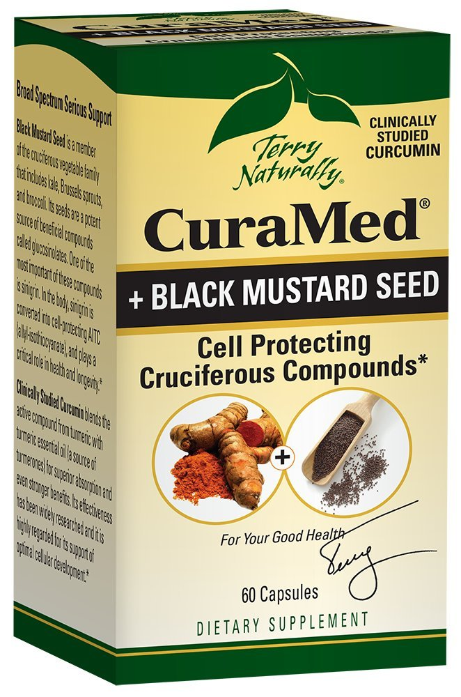 Terry Naturally CuraMed® + Black Mustard Seed 60 Capsules