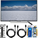 "Sony XBR-55X700D - 55"" Class 4K Ultra HD TV with Essential Accessory Bundle includes TV, Screen Cleaning Kit, 6 Outlet Power Strip with Dual USB Ports and 2 HDMI Cables"