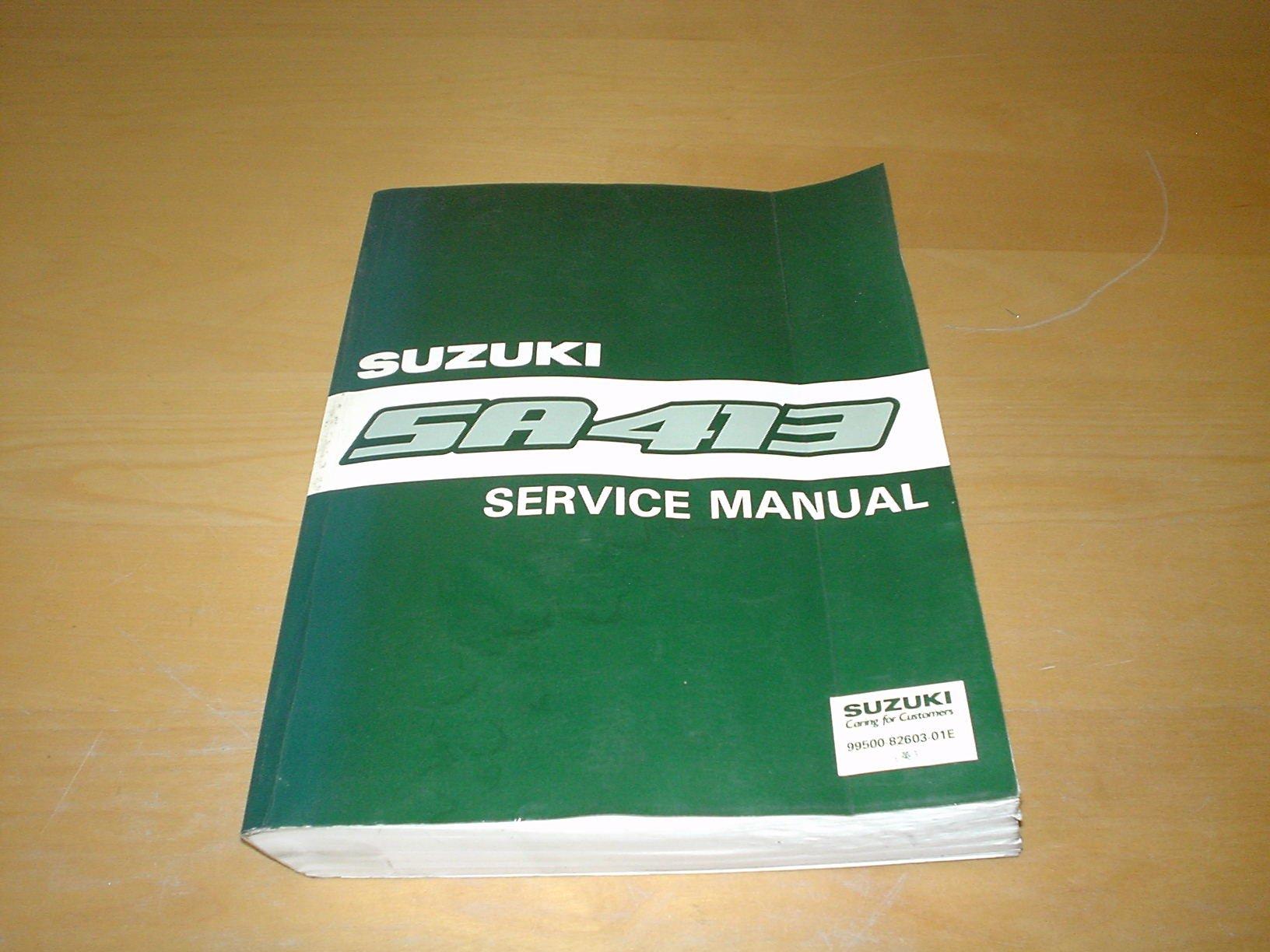 SUZUKI SWIFT GTI GS GXI SA413 OWNERS SERVICE / REPAIR MANUAL HANDBOOK Not  Haynes (1988 - 1996): Amazon.co.uk: SUZUKI: Books