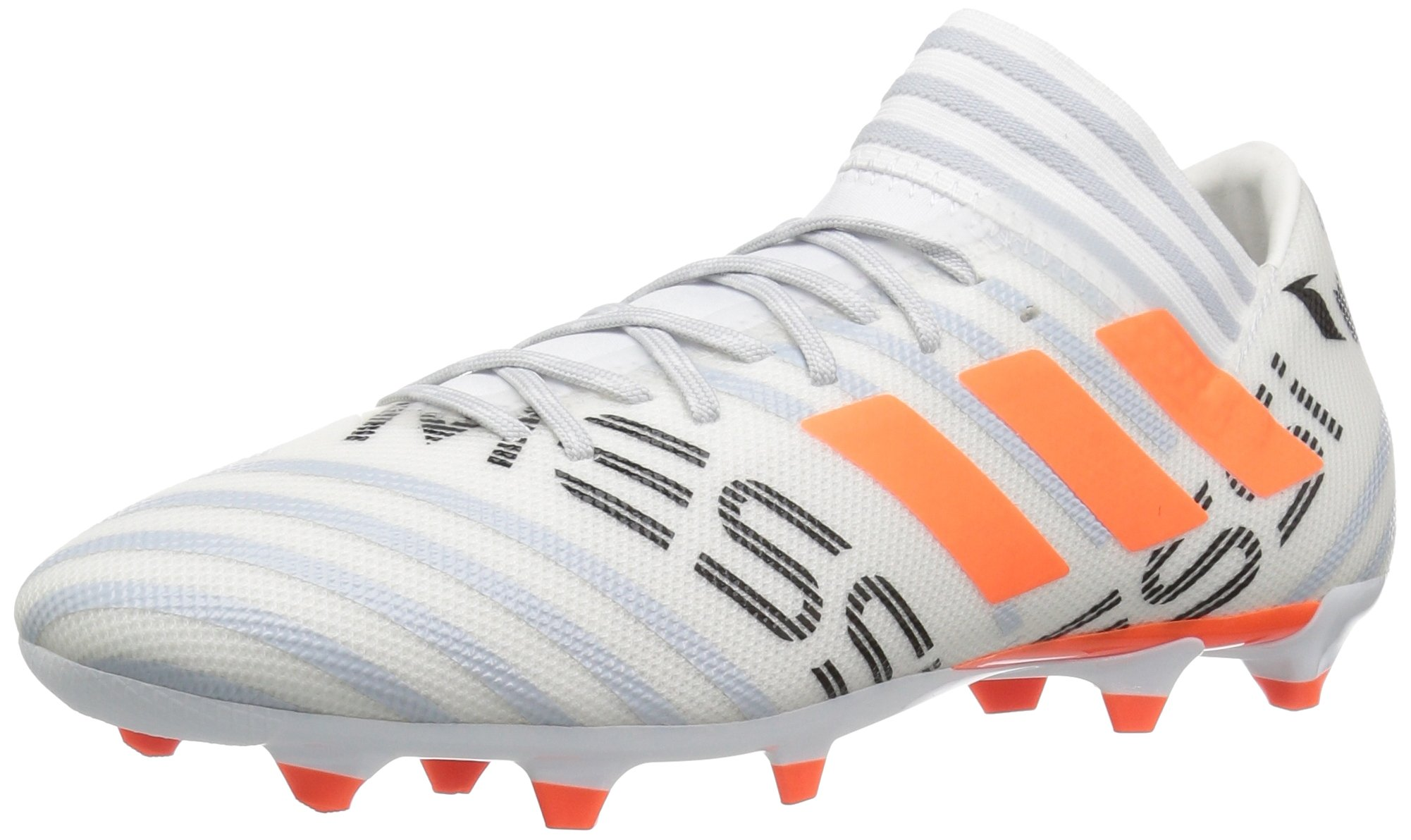 best website 335bf d9d26 Galleon - Adidas Men s Nemeziz Messi 17.3 FG Soccer Shoe, White Solar  Orange Clear Grey, 8.5 Medium US