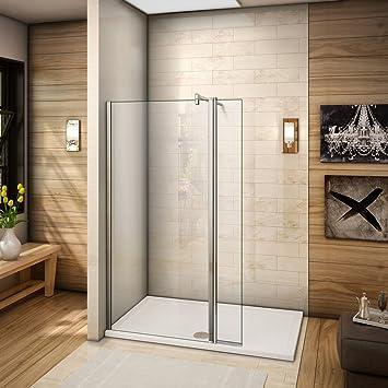 200 cm Walkin Mampara de ducha 8 mm Nano de ducha de cristal con 30 de la pared: Amazon.es: Bricolaje y herramientas