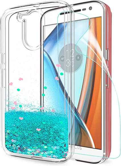 LeYi Funda Motorola Moto G4 / G4 Plus Silicona Purpurina Carcasa ...