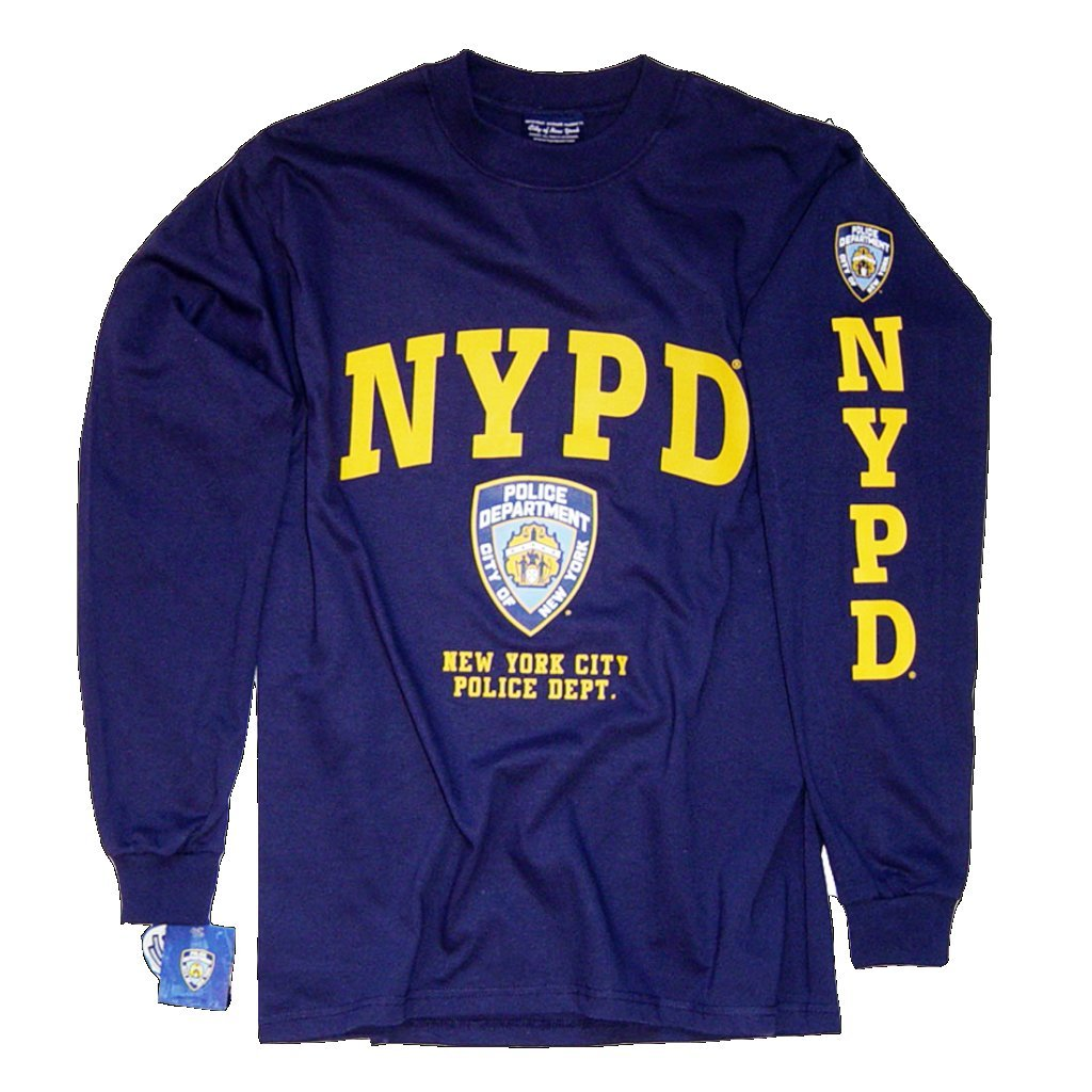 Amazon Nypd T Shirt Long Sleeve Screen Printed Shield Athletic