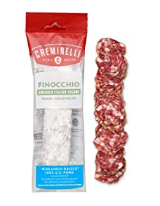 Creminelli - ItalianArtisan Handcrafted Fine Meats, Finocchio Salami, 5.5 Ounce