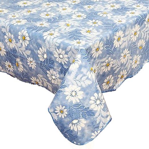 Fanjow® mantel de franela con plástico PVC, estampa floral, mantel ...
