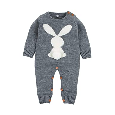 Amazon Com Ziyunlong Baby Romper Boy Girl Bunny Knitted Newborn