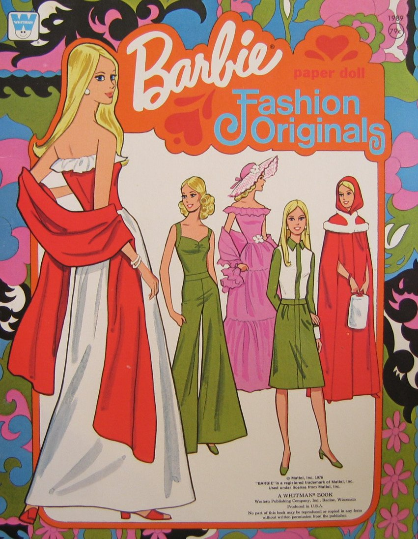 Barbie Fashion Originals Paper Doll Book 1976 Whitman