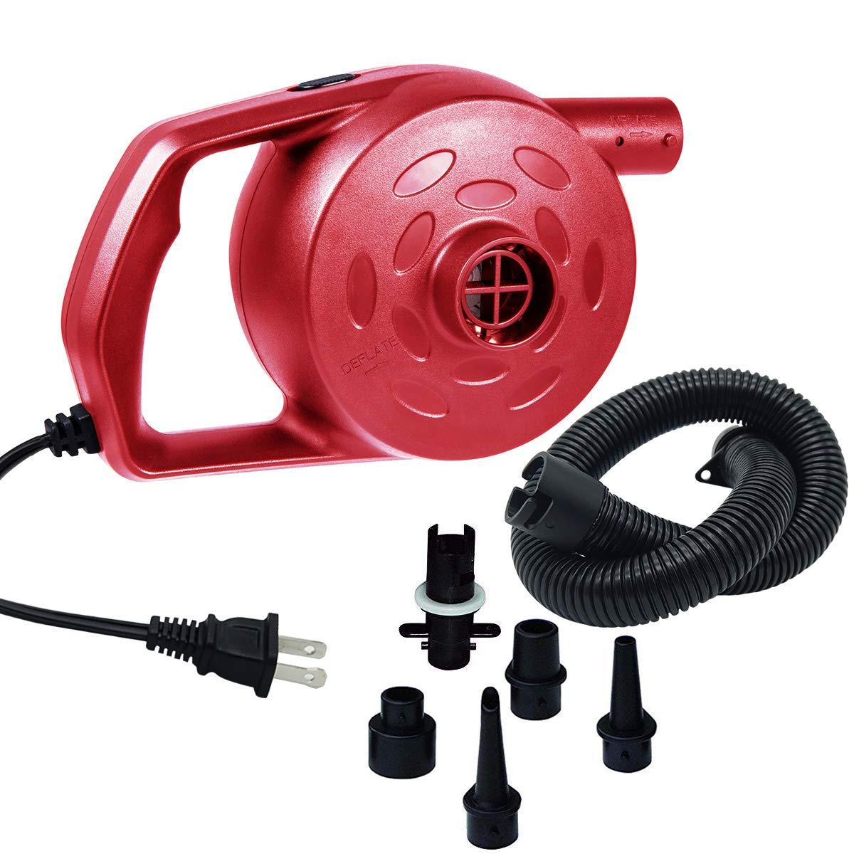 chamvis Electric Air Pump High Power Quick-Fill Air Mattress Pump