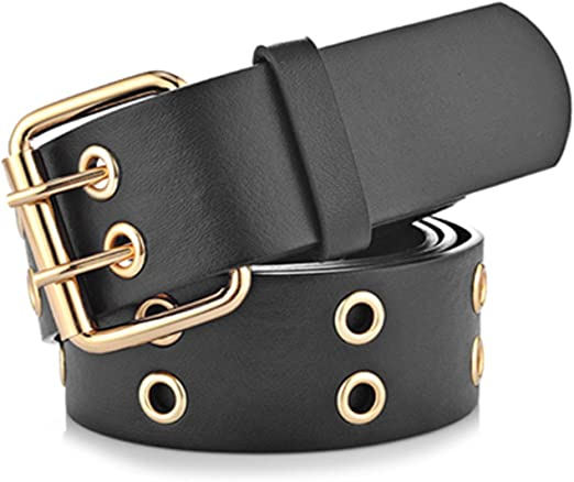 Real Leather Thread Stitching Designer Dress Casual Jeans Black Belt
