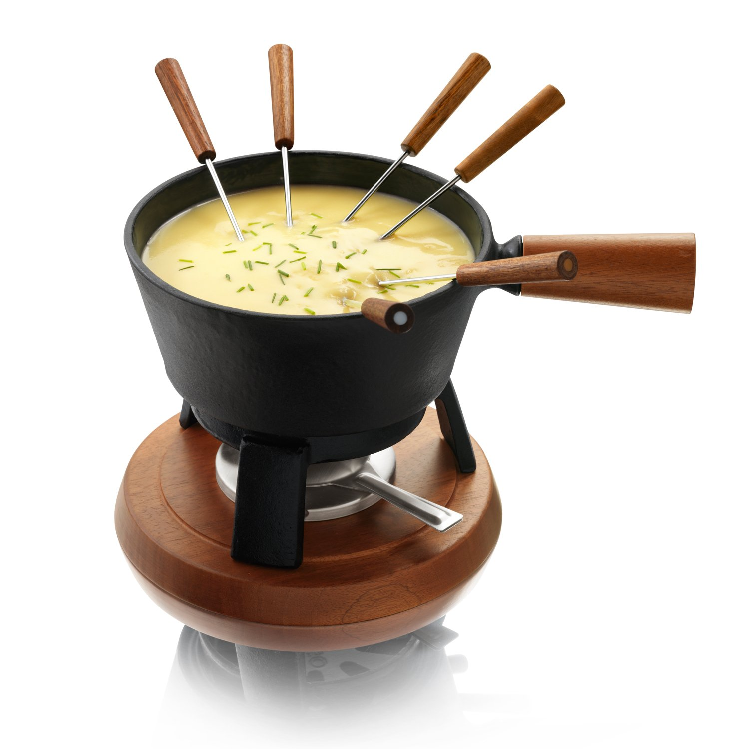 Boska Holland Monaco Collection Cheese Fondue Pro Set, Black by Boska Holland